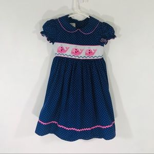 Marmellata | Smocked Dress with Whales Size 4